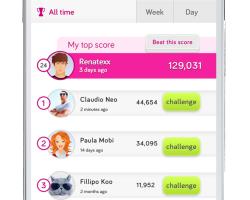 Vodafone - Mobile Portal Mockup