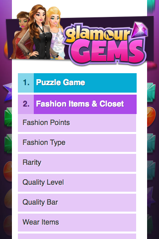 GlamourGems Single Page APP - Help Page